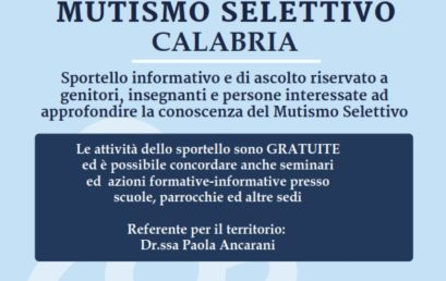 Punto Informa Mutismo Selettivo Calabria