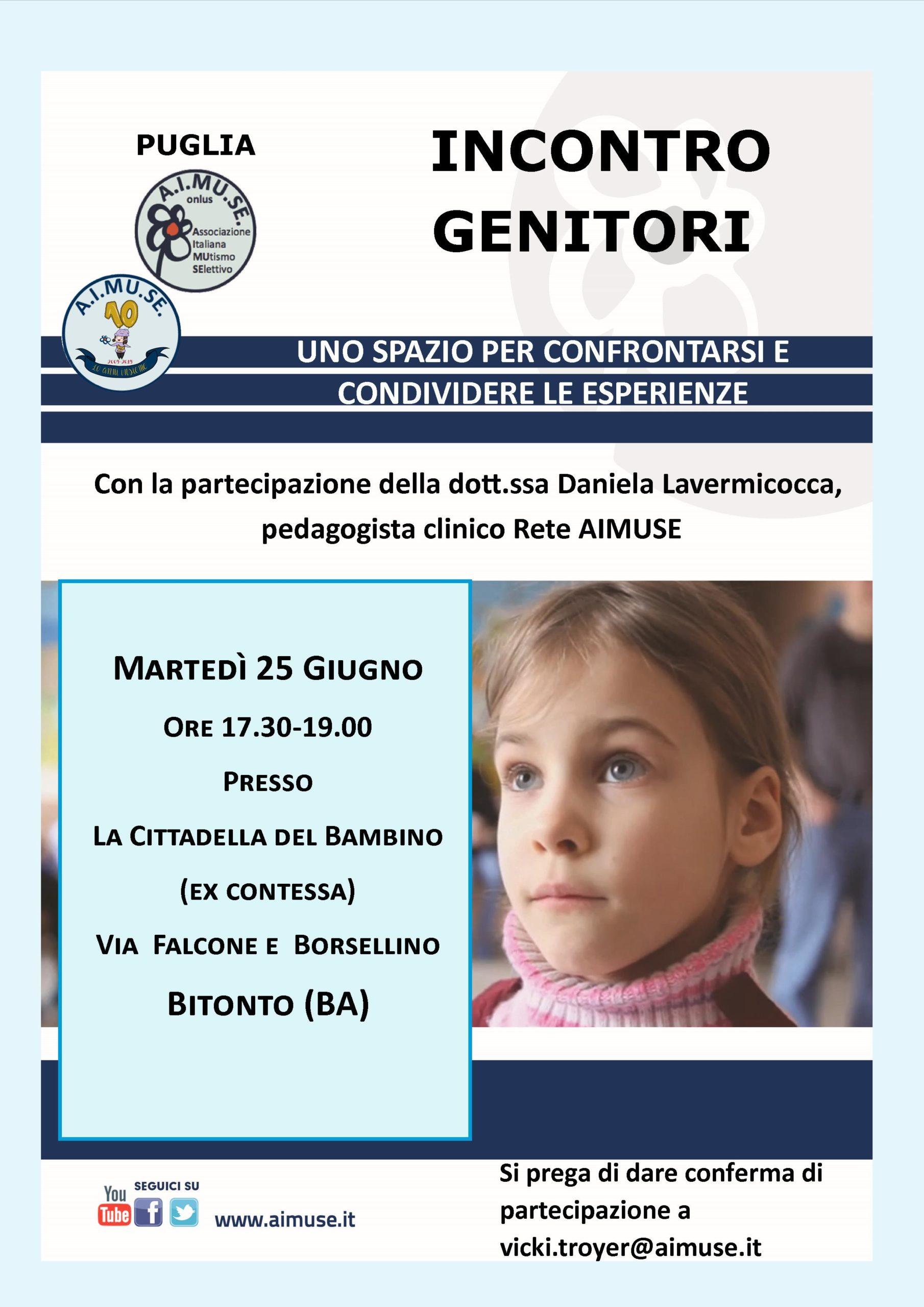 Incontro Genitori a Bitonto (BA)